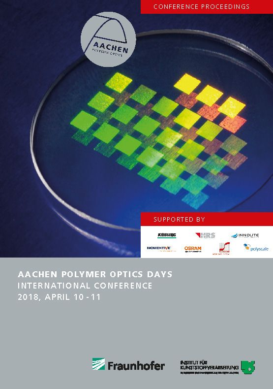 AACHEN POLYMER OPTICS DAYS INTERNATIONAL CONFERENCE 2018, APRIL 10 - 11