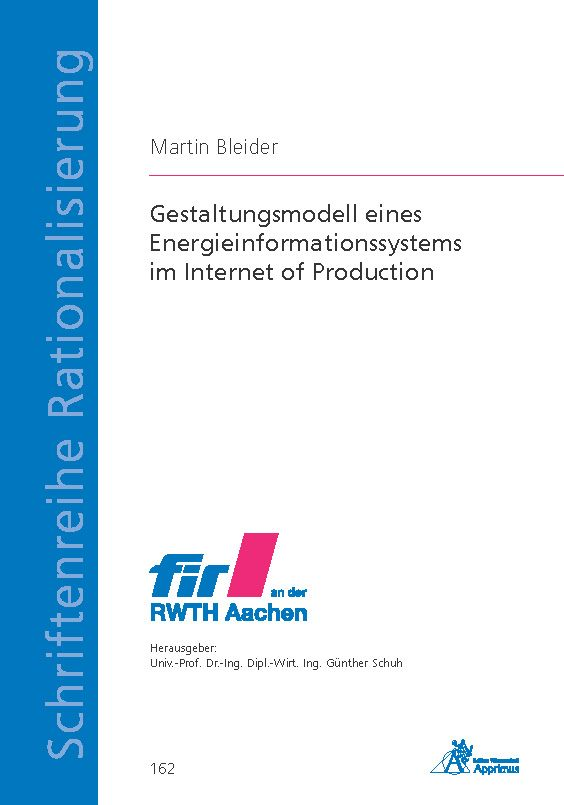 Gestaltungsmodell eines Energieinformationssystems im Internet of Production (E-Book)